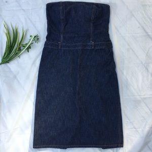 J. Crew strapless denim dress